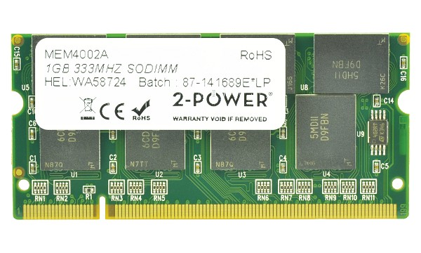 Satellite M45-S169 1GB PC2700 333MHz SODIMM